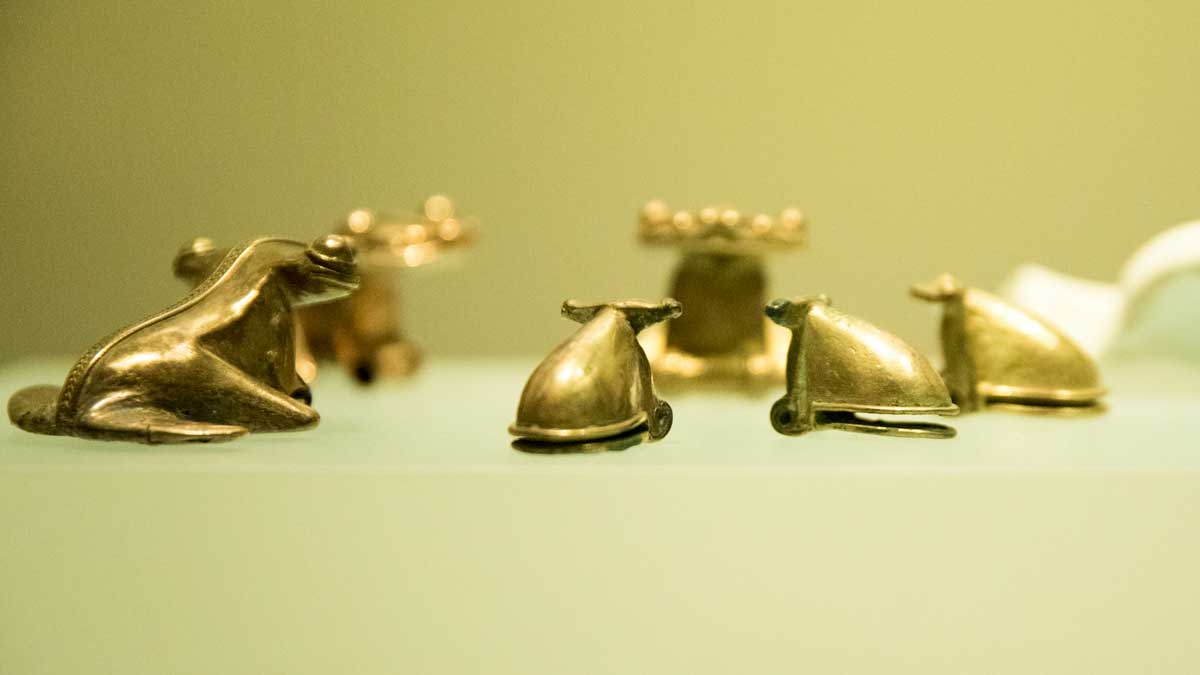 Golden Frogs | Gold Museum Bogota | ©Angela Drake