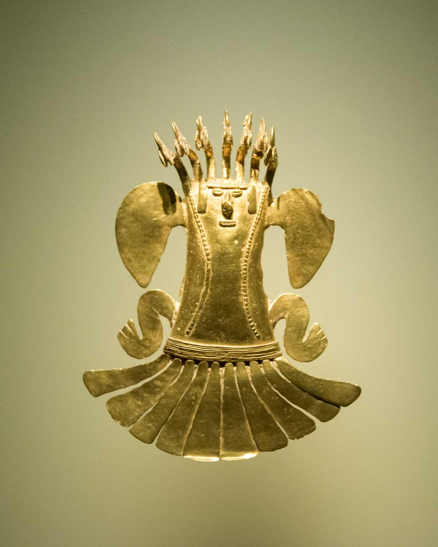 Shaman in Gold   Gold Museum Bogota   ©Angela Drake