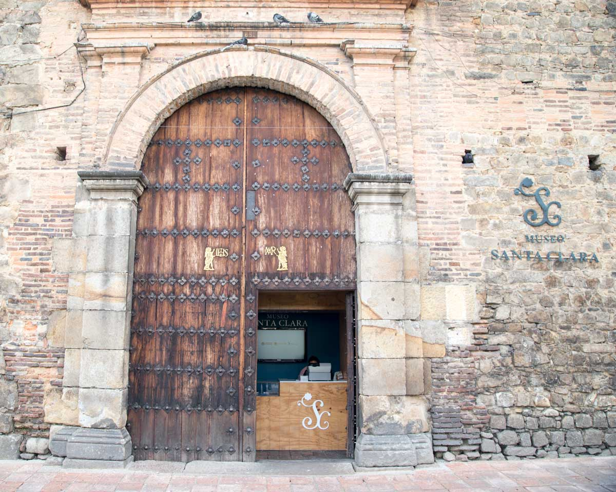Entryway of the Museo Santa Clara, Bogota, Colombia | ©Angela Drake