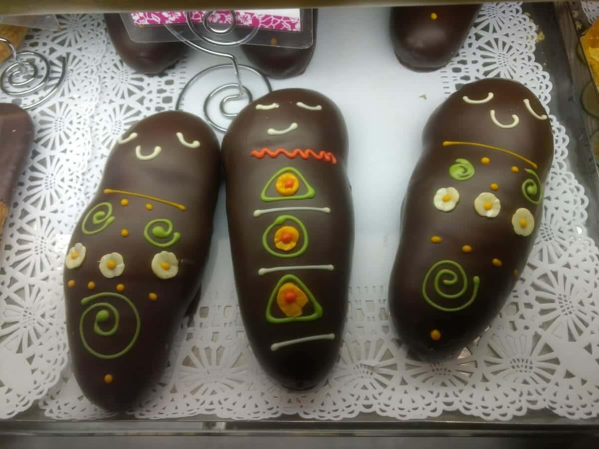 Guaguas de Pan made of Chocolate and Maracuya Mousse, Cyrano, Quito, Ecuador | ©Angela Drake