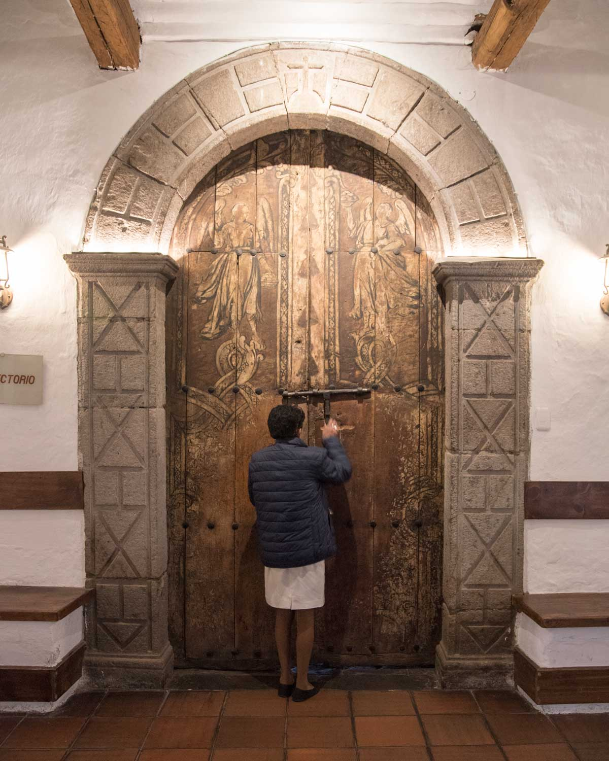 Entrance to the Dining Room, San Diego Convent, Quito   ©Angela Drake