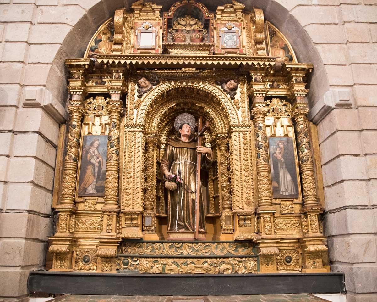 A Side Altar, San Diego Convent, Quito | ©Angela Drake