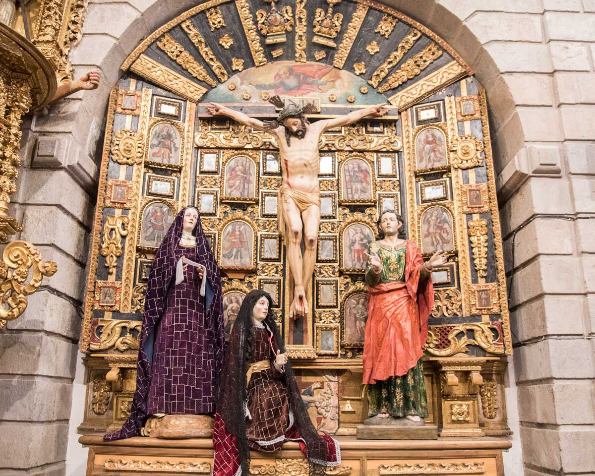 A Side Altar in style of the Cuzco School, San Diego Convent, Quito | ©Angela Drake
