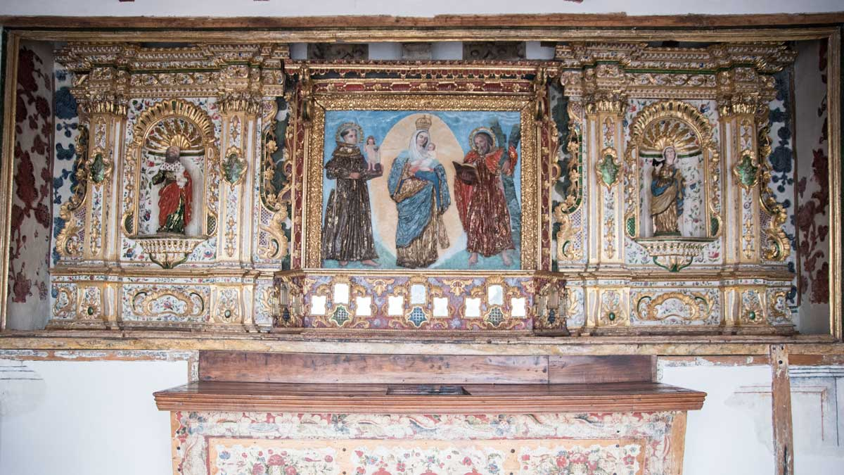 The Altar of the The Virgin of Chiquinquira, San Diego Convent, Quito   ©Angela Drake