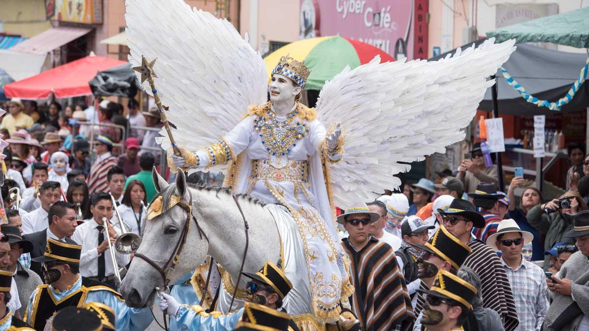 El Angel de la Estrella, Mama Negra, Latacunga, Ecuador | ©Angela Drake