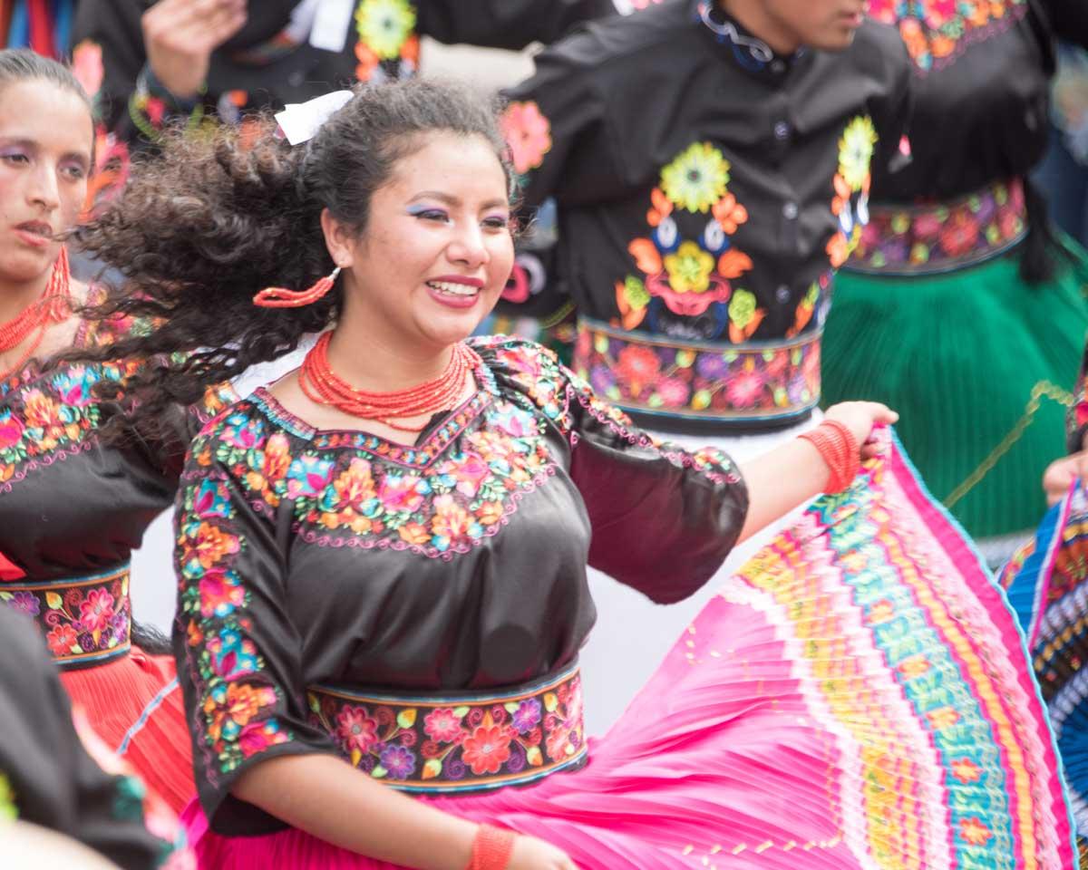 Folk Dancer, Mama Negra, Latacunga, Ecuador | ©Angela Drake