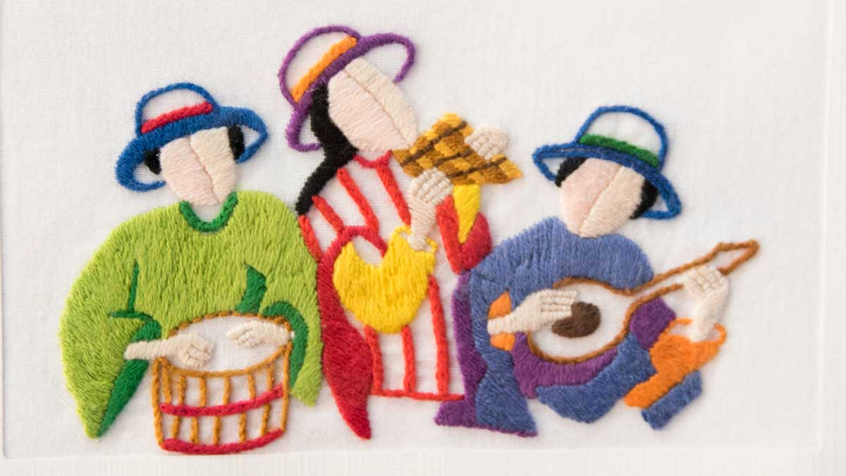 Andean Musicians; Exhibit of Cuenca Fiber Artists | ©Angela Drake