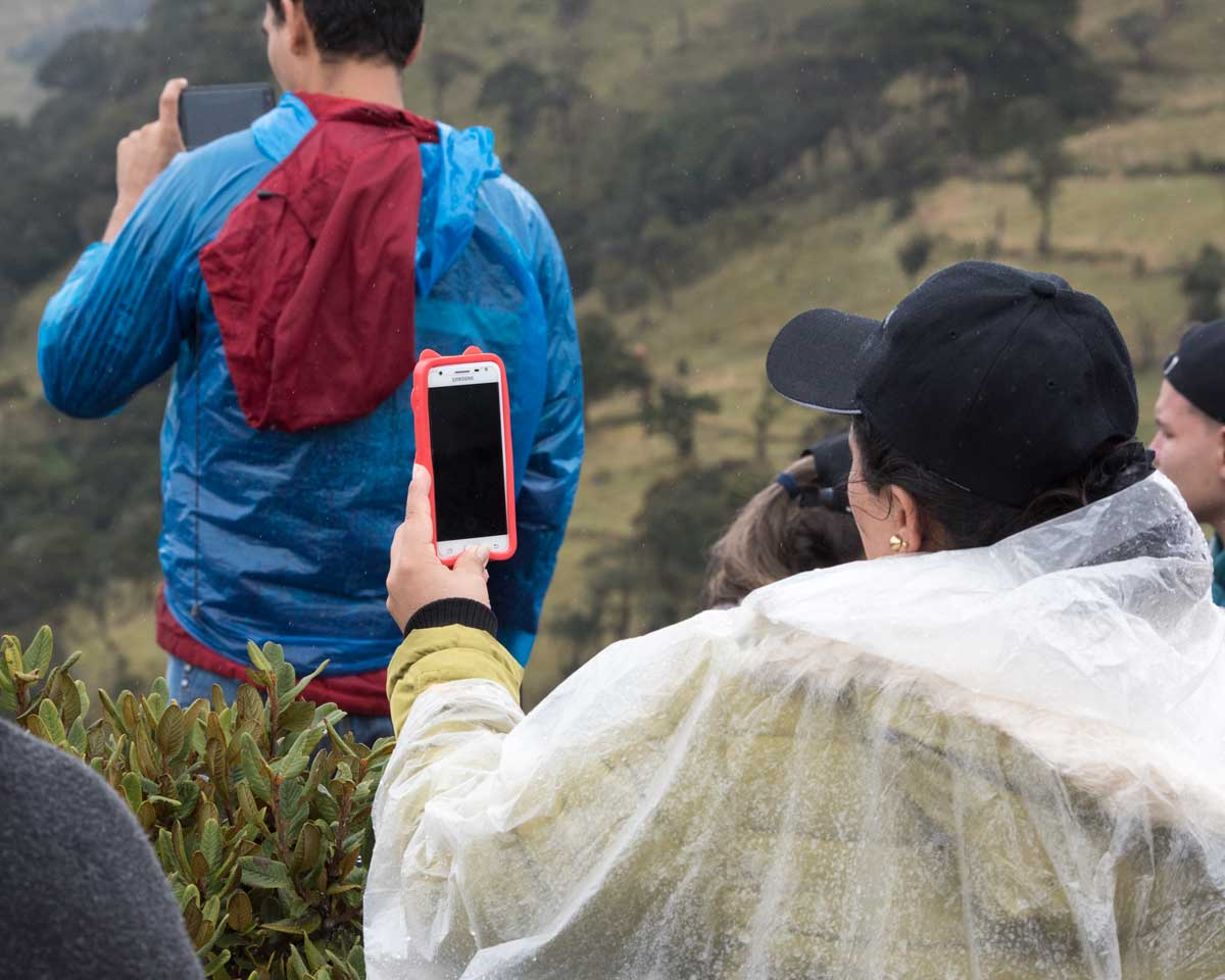 Taking Photos of an Andean Condor, Purace, Colombia | ©Angela Drake