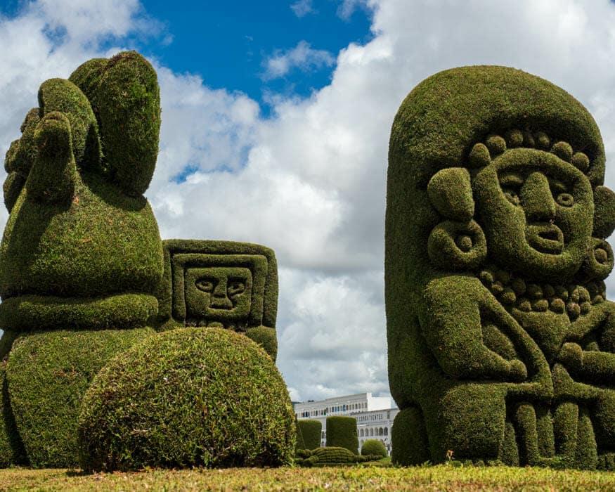 Topiary examples from Memorial Park, Tulcan Cemetery, Ecuador | © Ernest Scott Drake