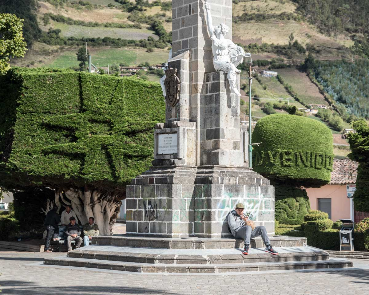 Main Plaza in El Angel, Carchi Province, Ecuador | | ©Angela Drake