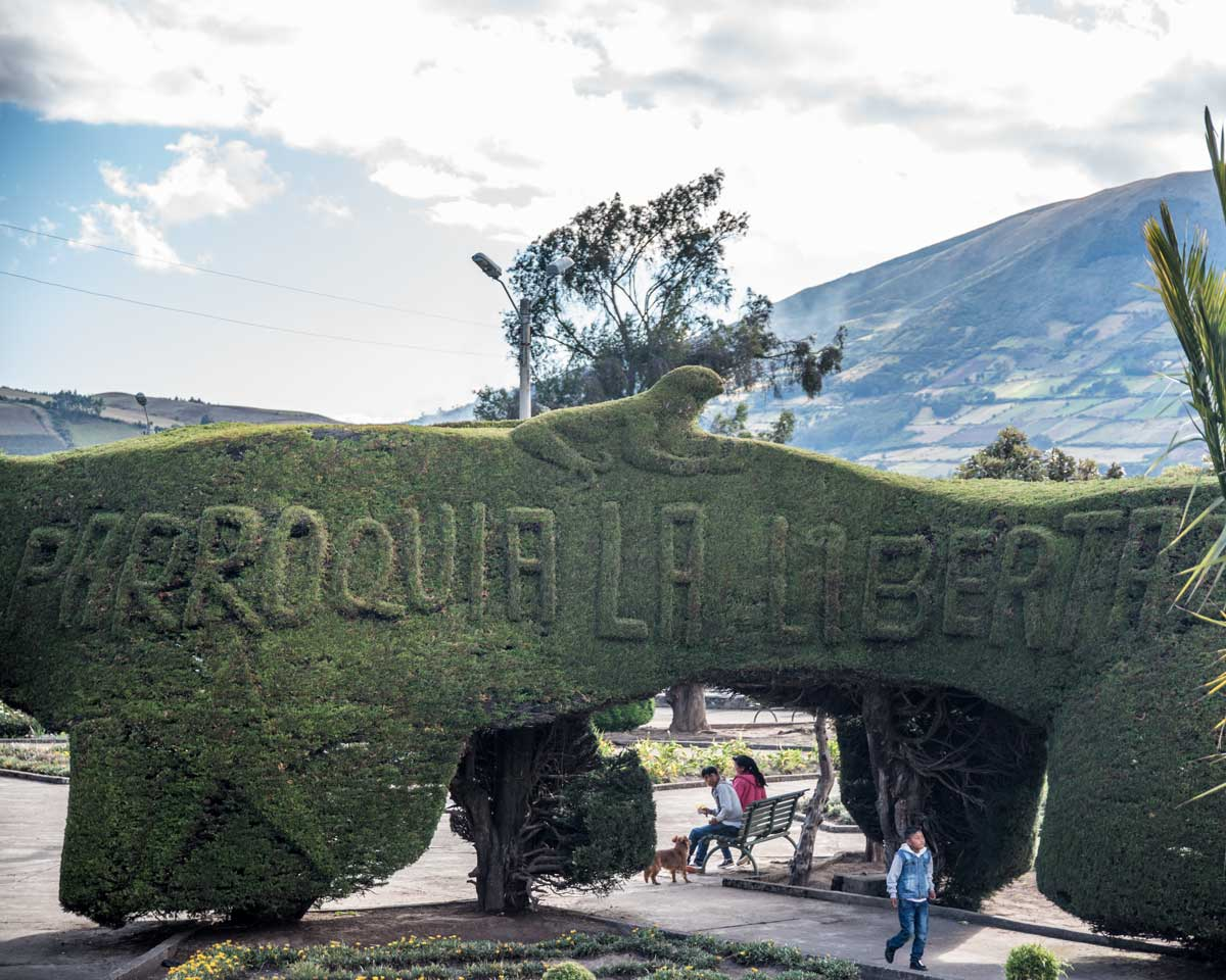 Main Plaza in La Libertad, Carchi Province, Ecuador | | ©Angela Drake