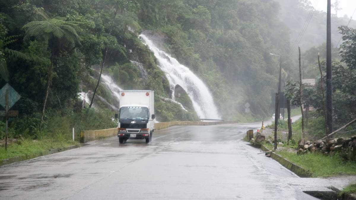 Waterfall on the E-50, Ecuador   ©Angela Drake