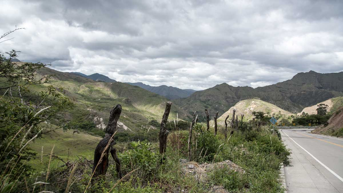 Just past Vilcabamba on Highway 682   ©Angela Drake