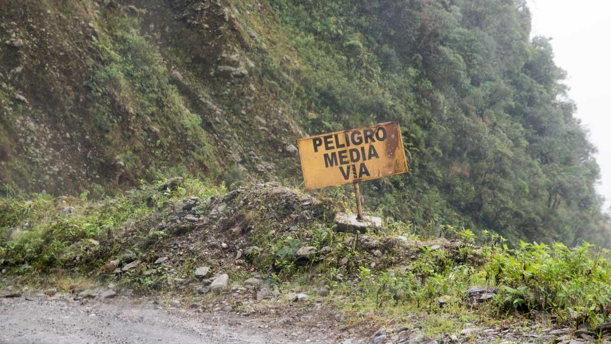 A Narrow Road Sign Along Highway 682   ©Angela Drake
