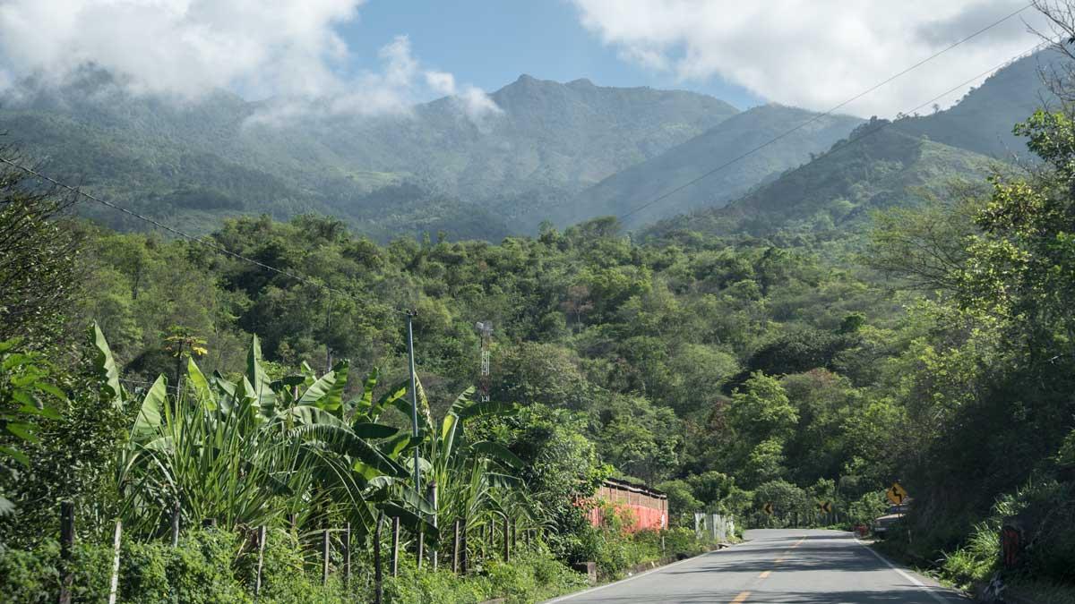 Leaving Macará for Piñas, Ecuador   ©Angela Drake