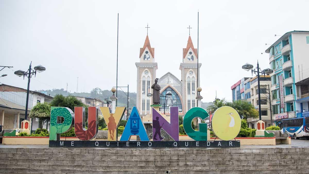 City Sign in Alamor, Ecuador   ©Angela Drake