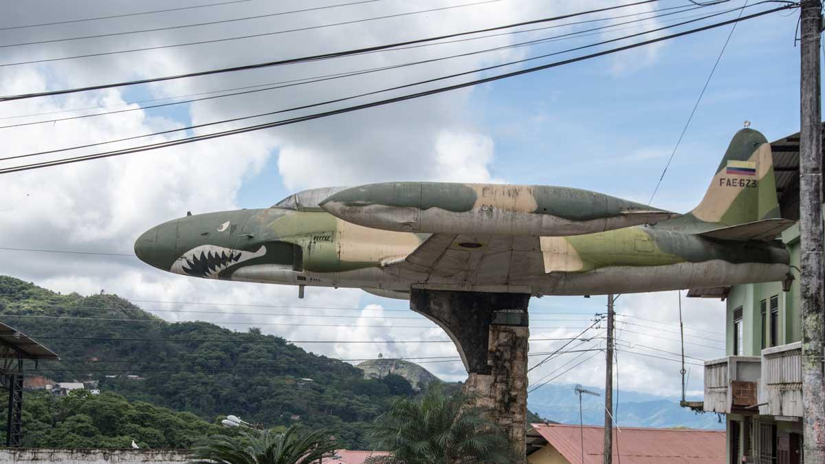 Fighter from the Cenepa War, Malvas, Ecuador   ©Angela Drake