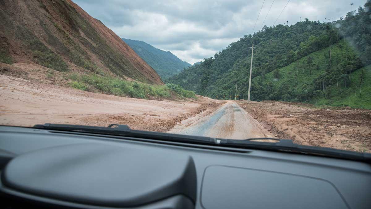 Recent landslide   ©Angela Drake