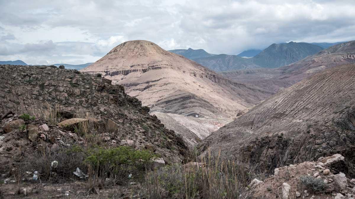 Sandstone Mountains along Highway 59, Ecuador   ©Angela Drake
