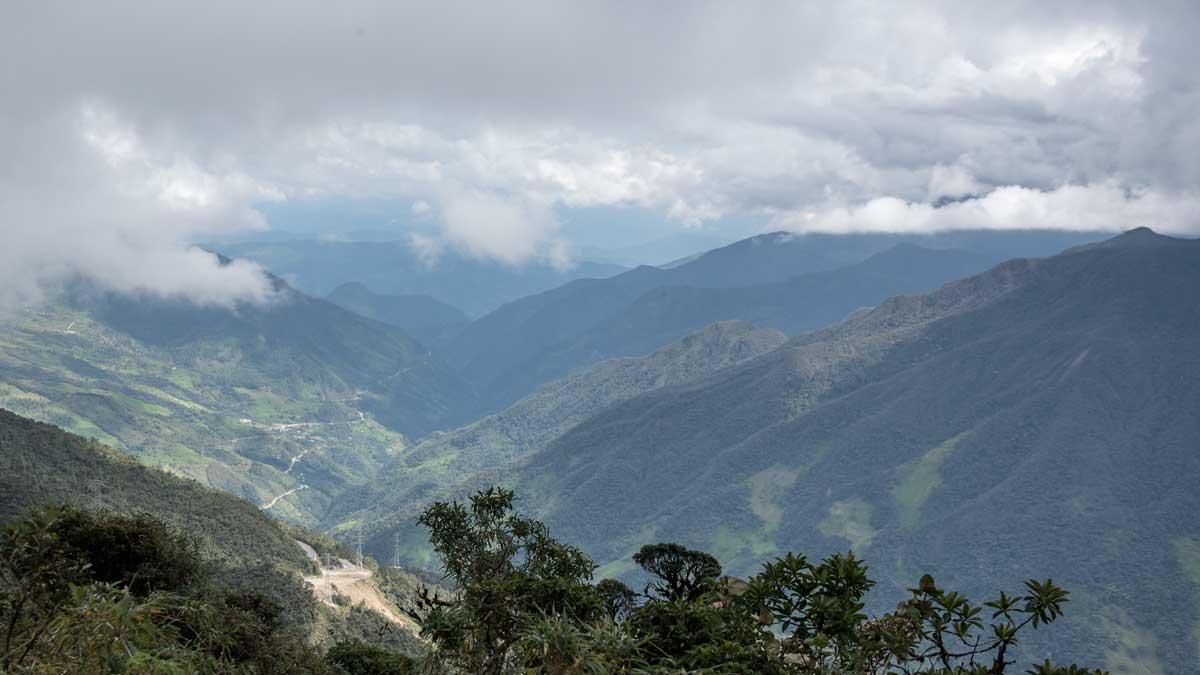 Looking towards the Troncal Amazónica (E-45), Southern Ecuador   ©Angela Drake