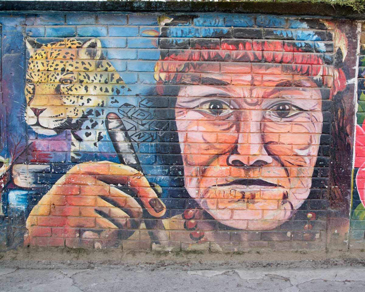 Shuar Mural in Yantzaza, Ecuador   ©Angela Drake