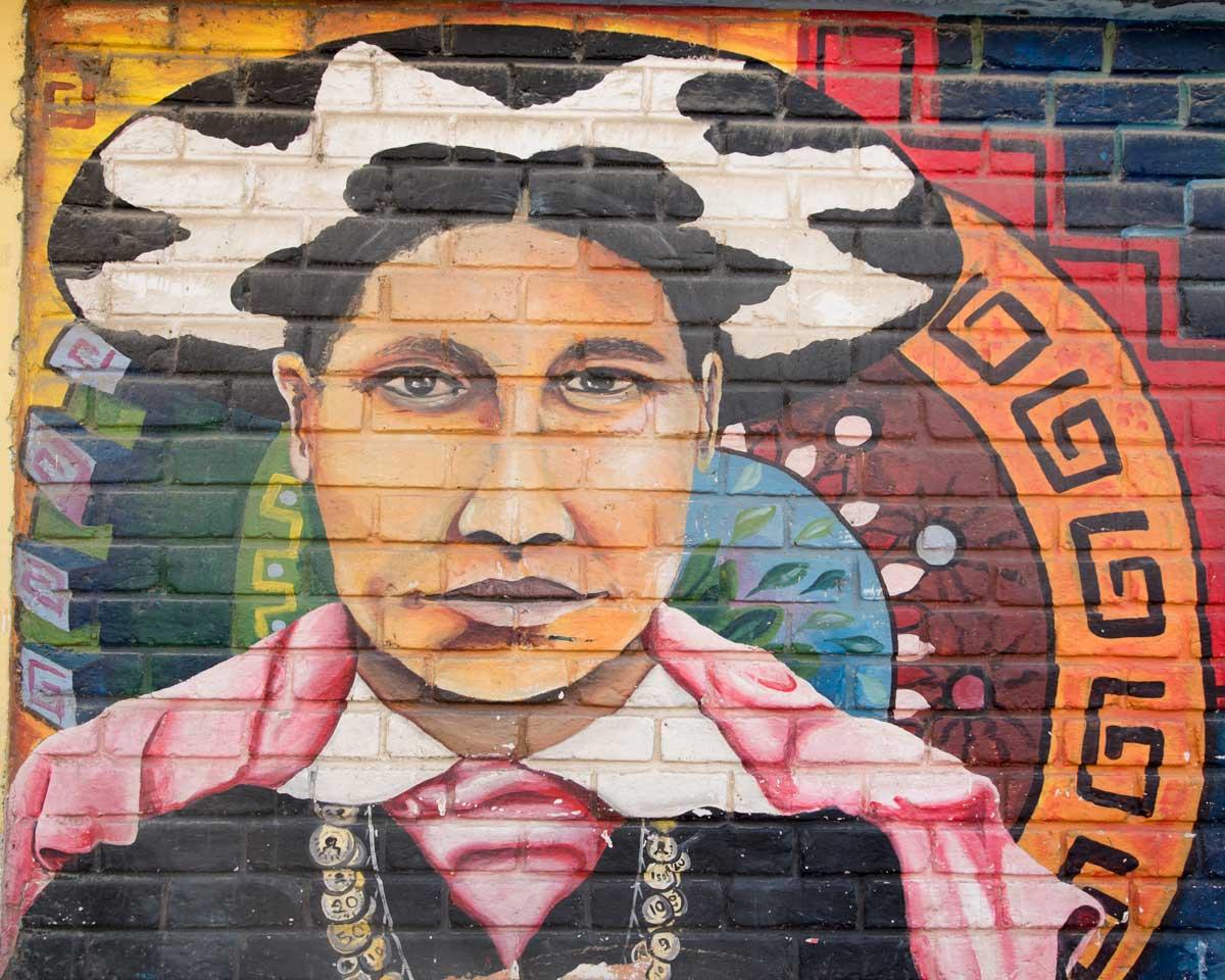 Saraguro Mural in Yantzaza, Ecuador   ©Angela Drake