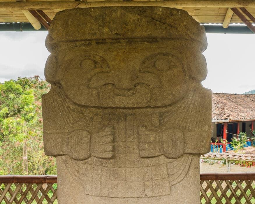 Check out this statues unique nose ring, El Tablon, Colombia   ©Ernest Scott Drake