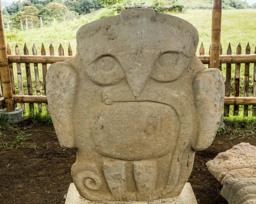 Bird with Snake at El Purutal, San Agustin, Colombia   ©Ernest Scott Drake