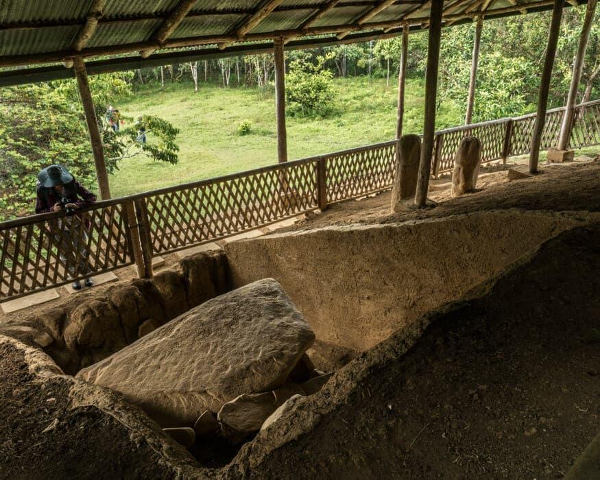 A view under the structure at La Pelota, San Agustin, Colombia   ©Ernest Scott Drake