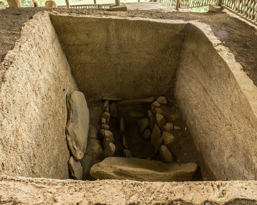 A tomb at La Pelota, San Agustin, Colombia   ©Ernest Scott Drake