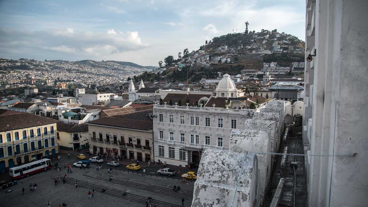 View from San Francisco Church, Colonial Quito, Ecuador | ©Angela Drake
