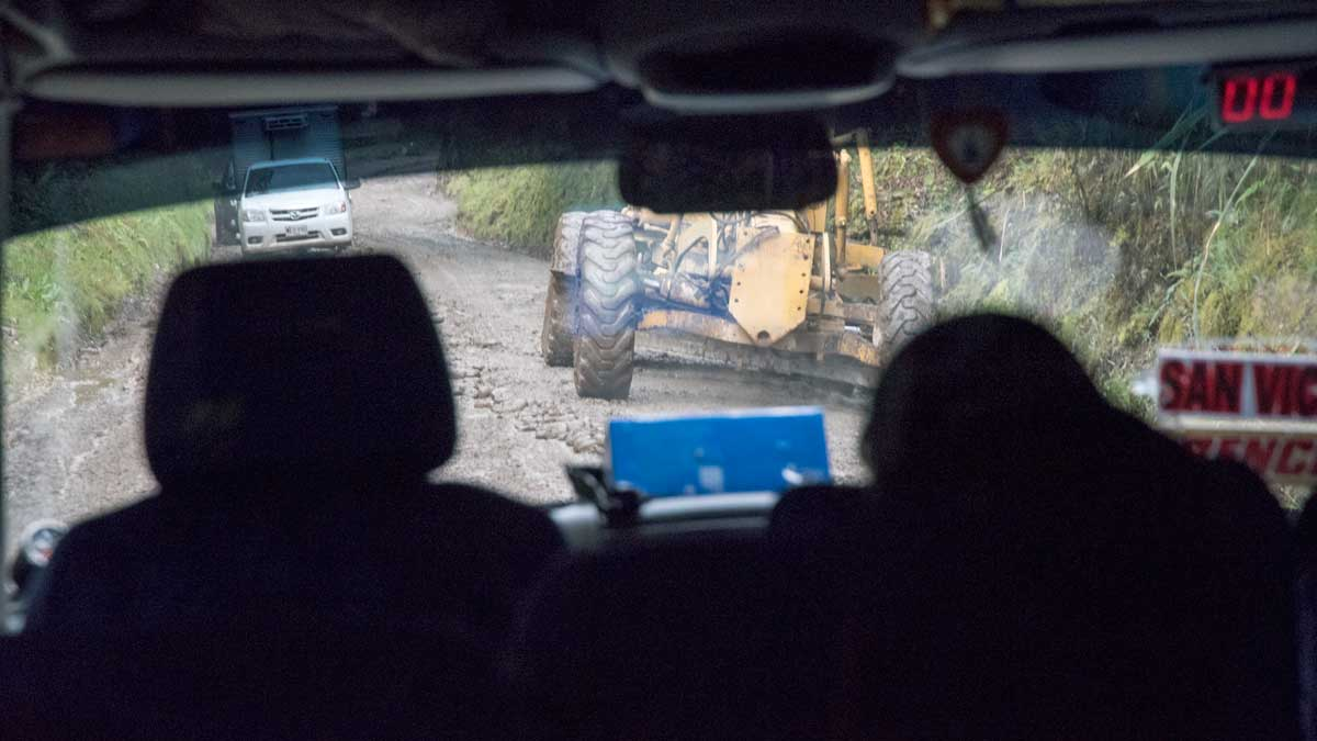 View from the back seat of the minibus, Popoyan to San Agustin, Colombia | ©Angela Drake