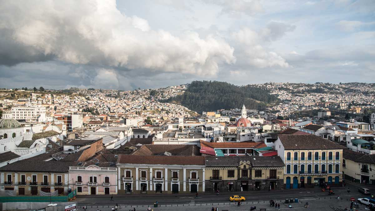 View from San Francisco Church, Quito, Ecuador | ©Angela Drake