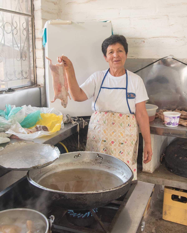 Chef Cuy Broaster from San Antonio de Ibarra, Imbabura, Ecuador | ©Angela Drake