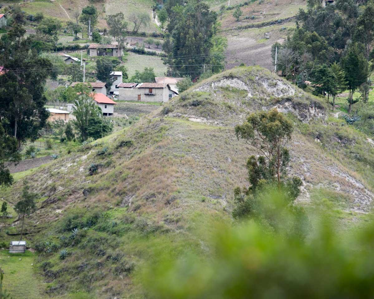Signs of an Ancient Culture on the hillsides, Chobshi, Sigsig, Ecuador | ©Angela Drake