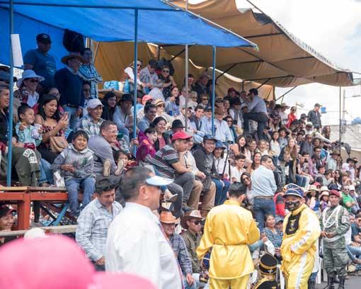 Seating in Tiers; Mama Negra Parade, Latacunga, Ecuador   ©Angela Drake