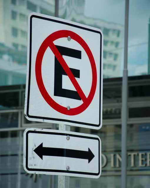 No Parking Sign, Quito, Ecuador | ©Angela Drake