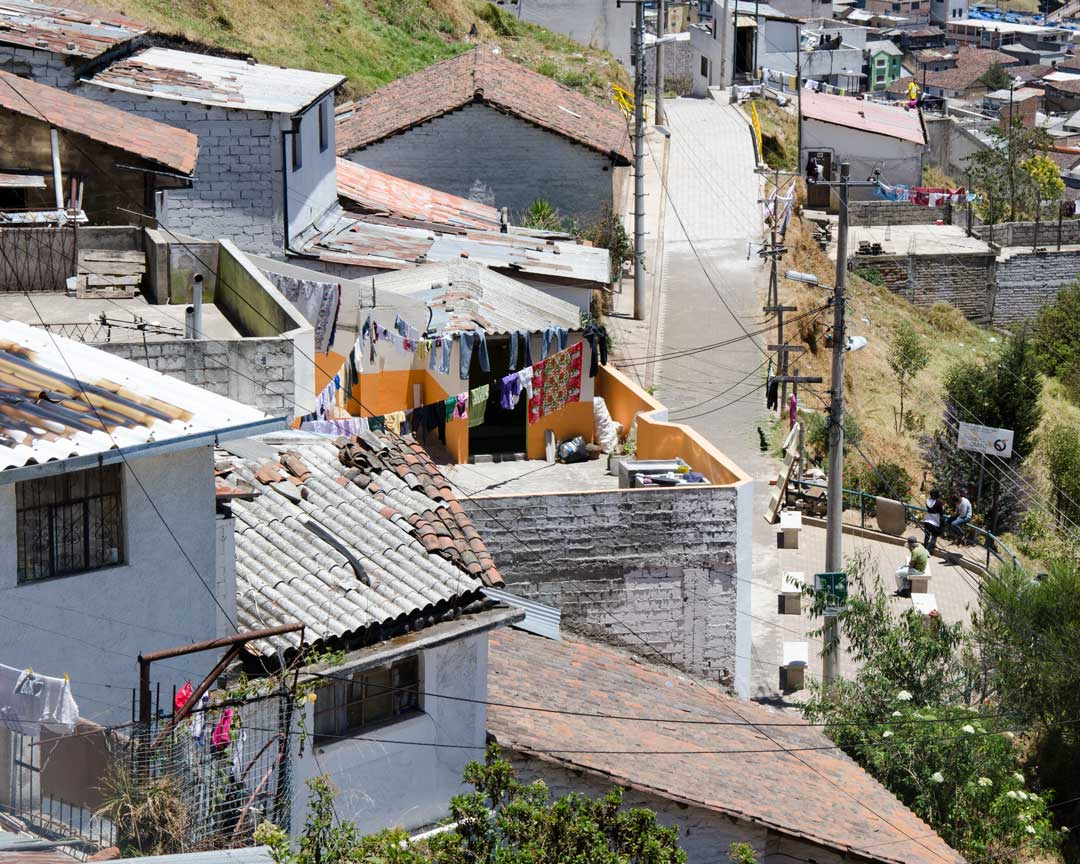 Homes on the Panecillo Steps, Quito, Ecuador | ©Angela Drake