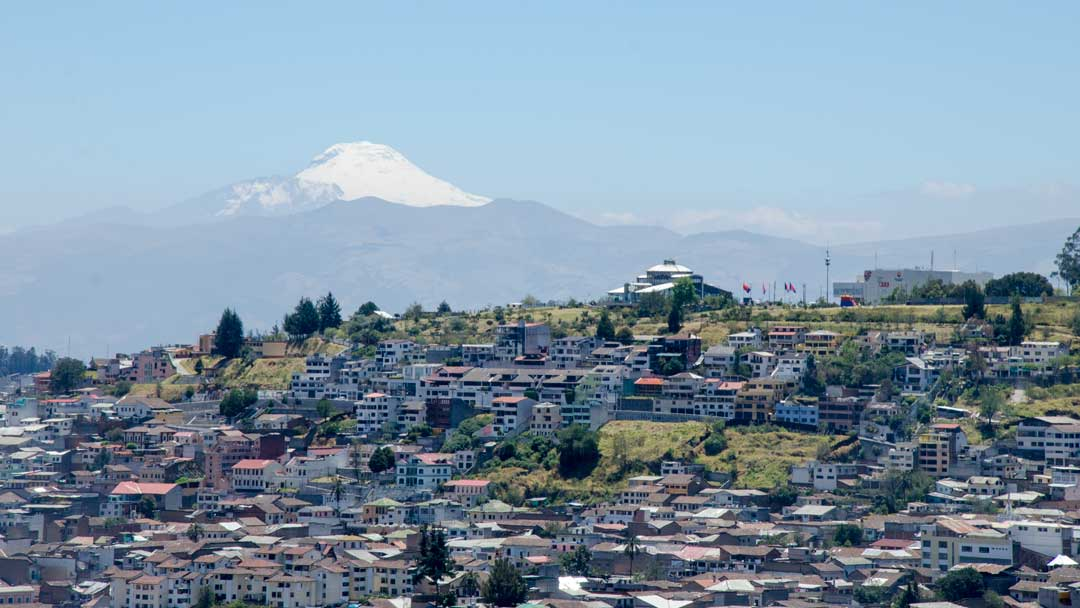 View of Cotopaxi from the Panecillo, Quito, Ecuador | ©Angela Drake