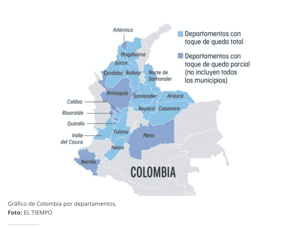 Secretaries of Health, Colombia - phone numbers for contact during the Covid-19 pandemic